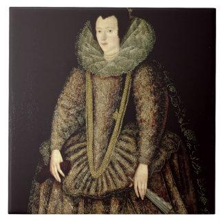 Portrait of a Lady in Elizabethan Dress Tile