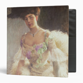 Portrait of a Lady in Evening Dress, 1903 3 Ring Binder