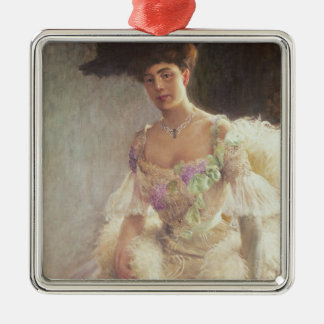 Portrait of a Lady in Evening Dress, 1903 Metal Ornament