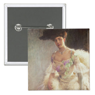 Portrait of a Lady in Evening Dress, 1903 Pinback Button