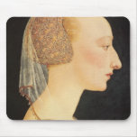 Portrait of a Lady in Red, 1460-70 Mouse Pad