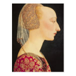 Portrait of a Lady in Red, 1460-70 Postcard
