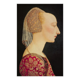 Portrait of a Lady in Red, 1460-70 Posters
