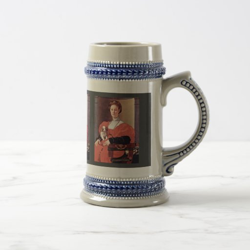 Portrait Of A Lady In Red Dress By Pontormo Jacopo Mugs