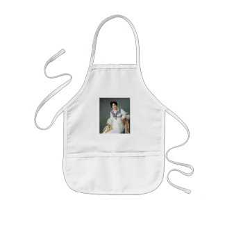 Portrait of a lady kids' apron