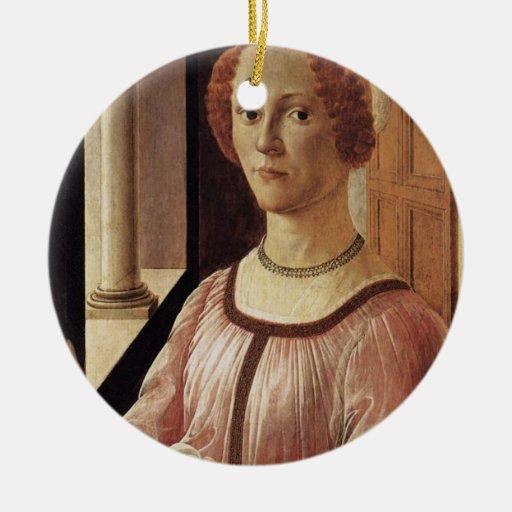 'Portrait of a Lady known as Smeralda Brandini' Christmas Ornament