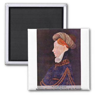 Portrait Of A Lady Refrigerator Magnets