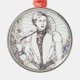 Portrait OF A lady Metal Ornament