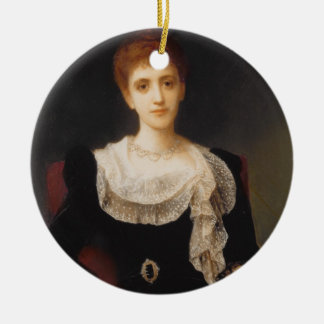 Portrait of a Lady (oil on canvas) 2 Ceramic Ornament