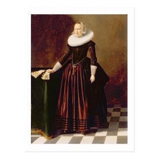 Portrait of a Lady (oil on panel) Postcard