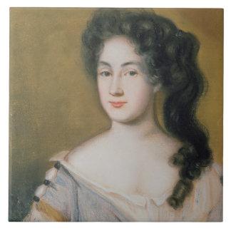 Portrait of a Lady (pastel on paper) Ceramic Tile