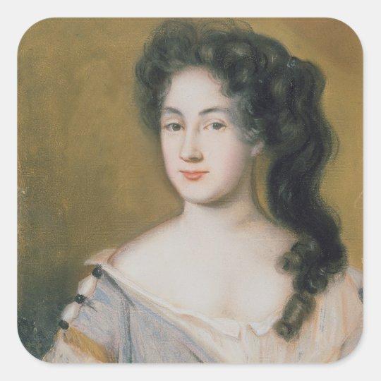 Portrait of a Lady (pastel on paper) Square Sticker