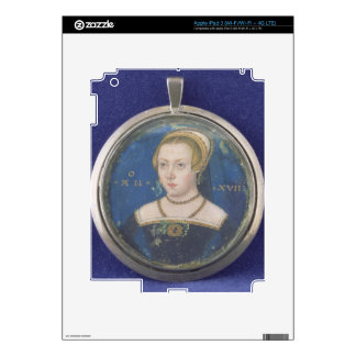 Portrait of a Lady, possibly Lady Jane Grey, c.154 Decals For iPad 3