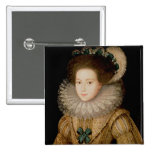 Portrait of a Lady, possibly Mary Queen of Scots ( Pinback Buttons
