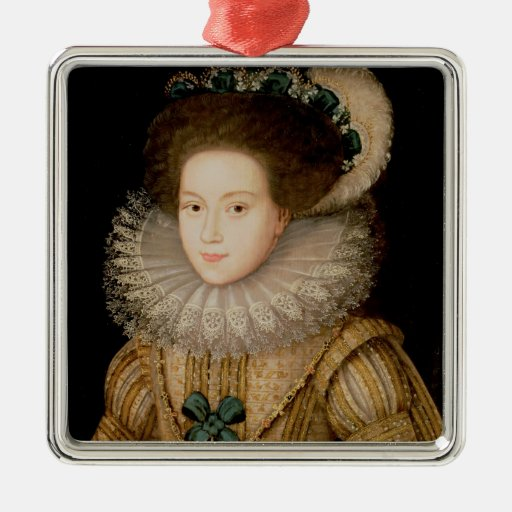 Portrait of a Lady, possibly Mary Queen of Scots ( Christmas Ornaments