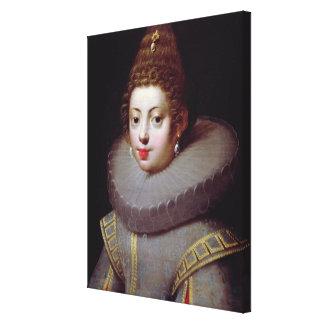 Portrait of a Lady, said to be Marguerite de Valoi Canvas Print