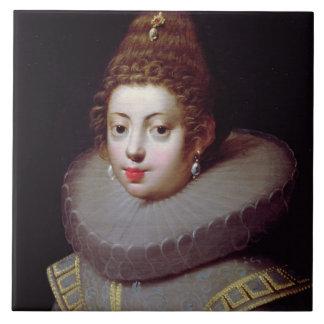 Portrait of a Lady, said to be Marguerite de Valoi Ceramic Tile