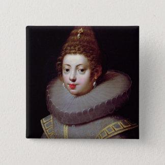 Portrait of a Lady, said to be Marguerite de Valoi Pinback Button