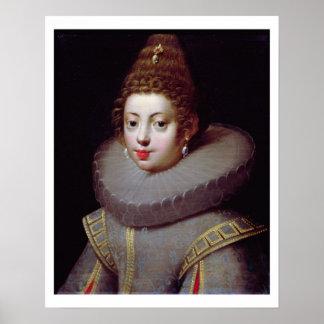 Portrait of a Lady, said to be Marguerite de Valoi Poster
