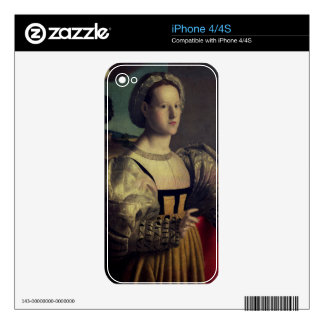 Portrait of a lady decal for the iPhone 4S