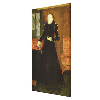 Portrait of a Lady, thought to be Katherine, Duche Canvas Print