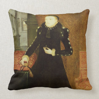 Portrait of a Lady, thought to be Katherine, Duche Throw Pillow