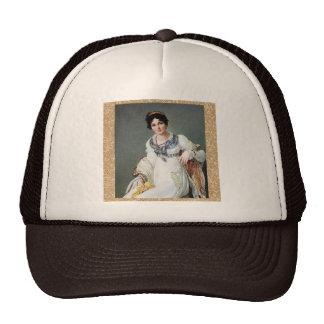 Portrait of a lady trucker hat