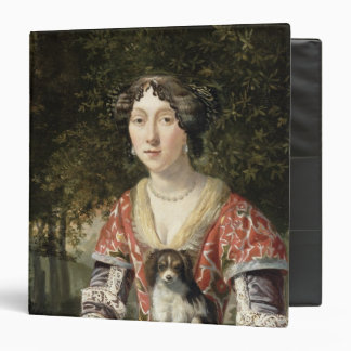 Portrait of a Lady Wearing a Red and White Dress Binder