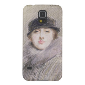 Portrait of a Lady with a Fur Collar and Muff Galaxy S5 Case