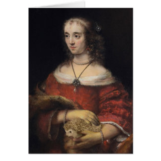 Portrait of a Lady With a Hedgehog Card