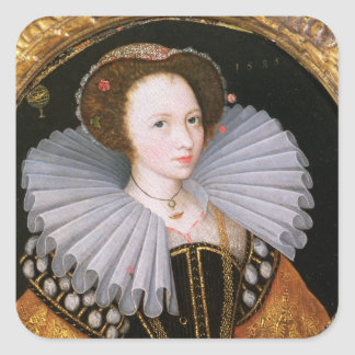 Portrait of a Lady with a Large Ruff Square Sticker