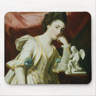 Portrait of a Lady with a Statuette of Cupid Mouse Pad