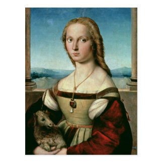 Portrait of a Lady with a Unicorn, c.1505-6 Postcard