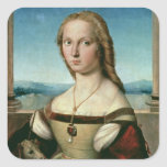 Portrait of a Lady with a Unicorn, c.1505-6 Square Sticker