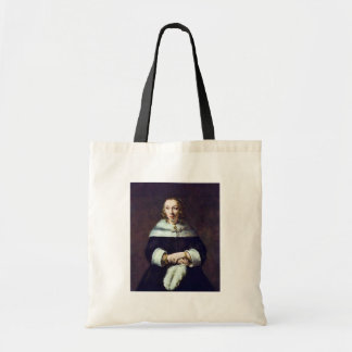 Portrait Of A Lady With An Ostrich-Feather Fan 1 Canvas Bag