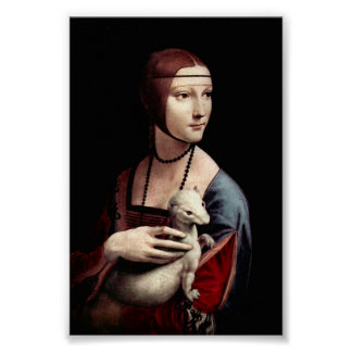 Portrait of a Lady with Ermine by Da Vinci Poster