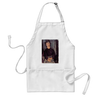 Portrait Of A Lady'S Maid By Modigliani Amedeo Aprons