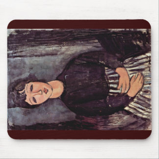Portrait Of A Lady'S Maid By Modigliani Amedeo Mousepads