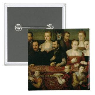 Portrait of a Large Family Pinback Button