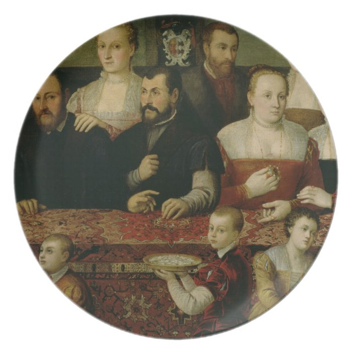 Portrait of a Large Family Plate