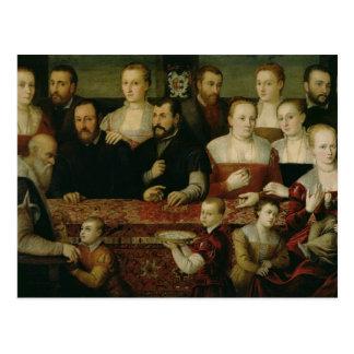 Portrait of a Large Family Postcard