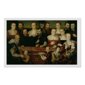 Portrait of a Large Family Poster