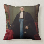 Portrait of a Lawyer in his Library, 1852 (oil on Throw Pillow