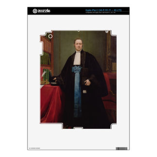 Portrait of a Lawyer in his Library, 1852 (oil on iPad 3 Decals