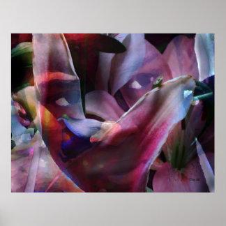 Portrait of a Lily Print