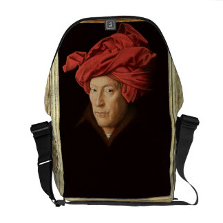 Portrait of a Man, 1433 (oil on oak) (see also 422 Courier Bag