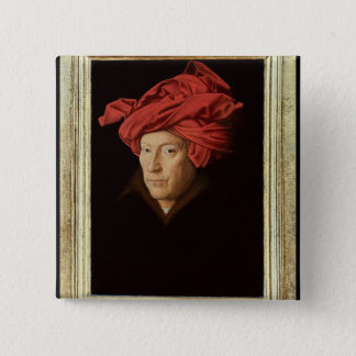 Portrait of a Man, 1433 (oil on oak) (see also 422 Pinback Button