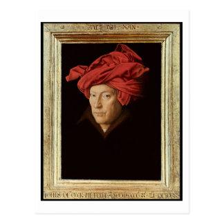 Portrait of a Man, 1433 (oil on oak) (see also 422 Postcard