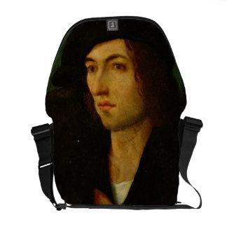 Portrait of a Man, 1506 (oil on panel) Messenger Bag
