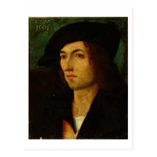 Portrait of a Man, 1506 (oil on panel) Postcard